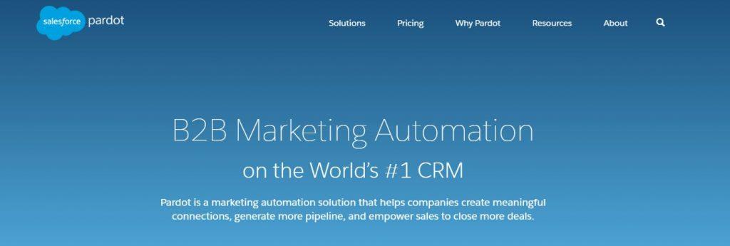 pardot oprogramowanie marketing automation