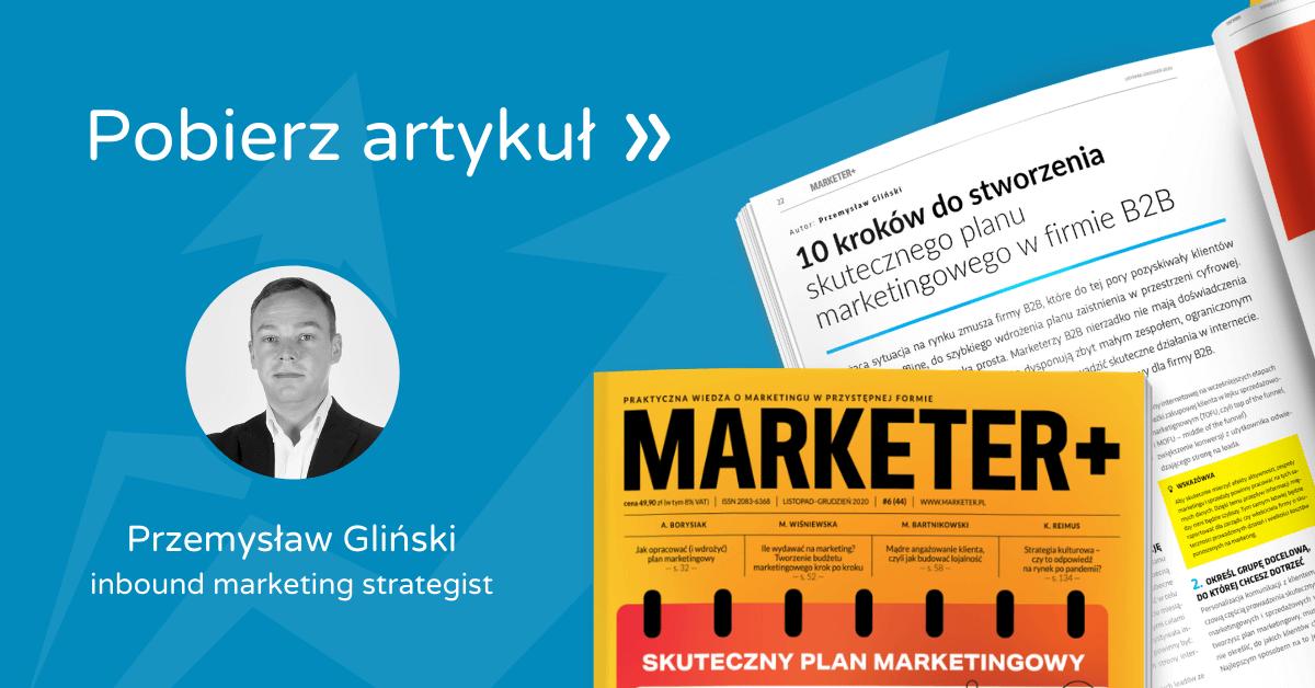 Marketer+ Plan marketingowy Przemek Gliński